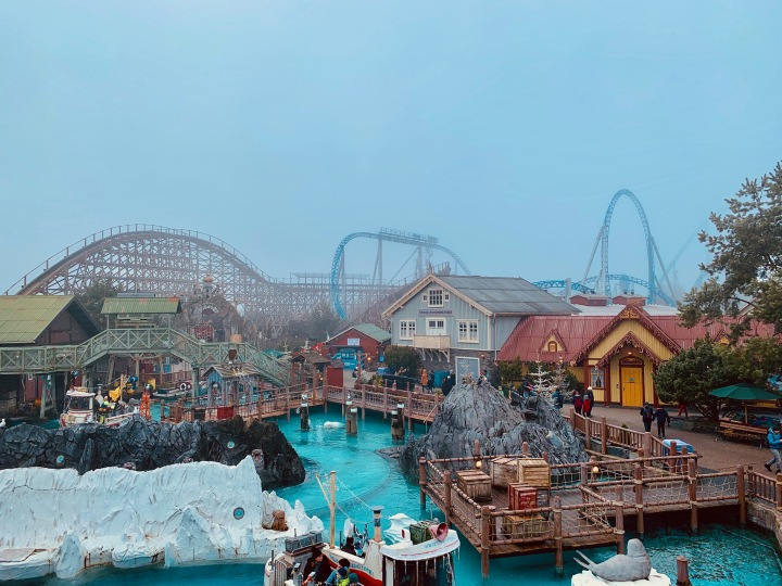 europa park favourite moment rollercoasters in the fog