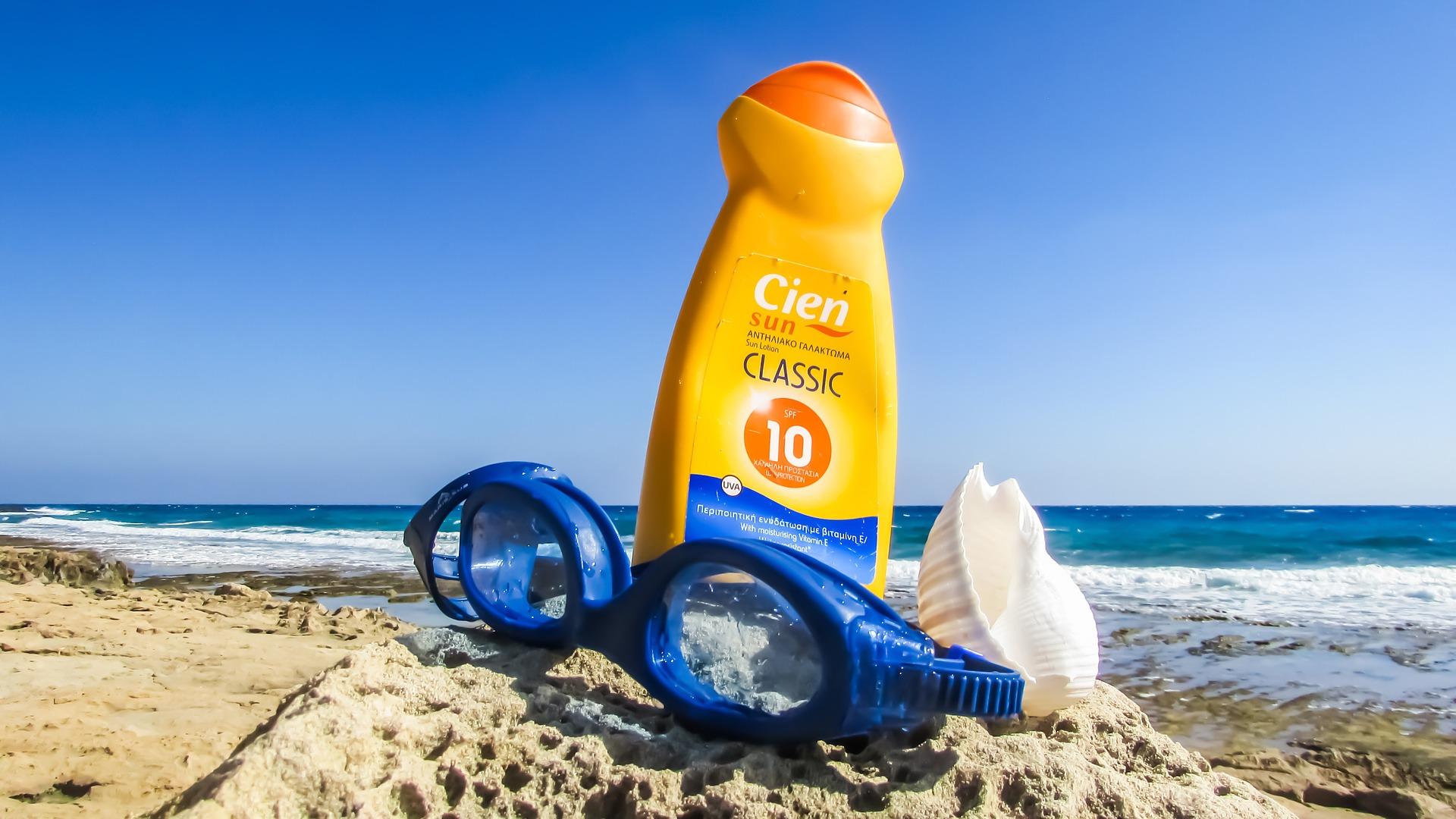 Sun Cream on the Beach