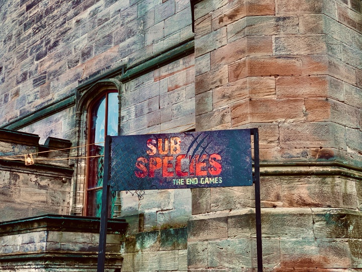 sub species entrance sign