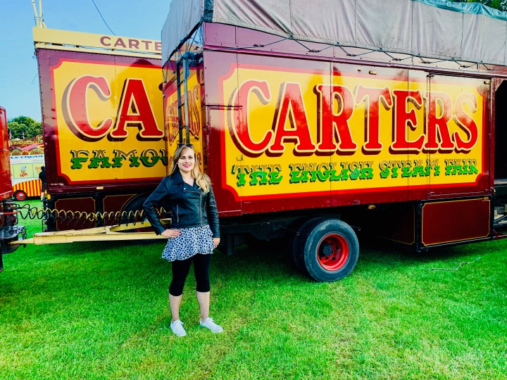 me stood outside the carters steam fair