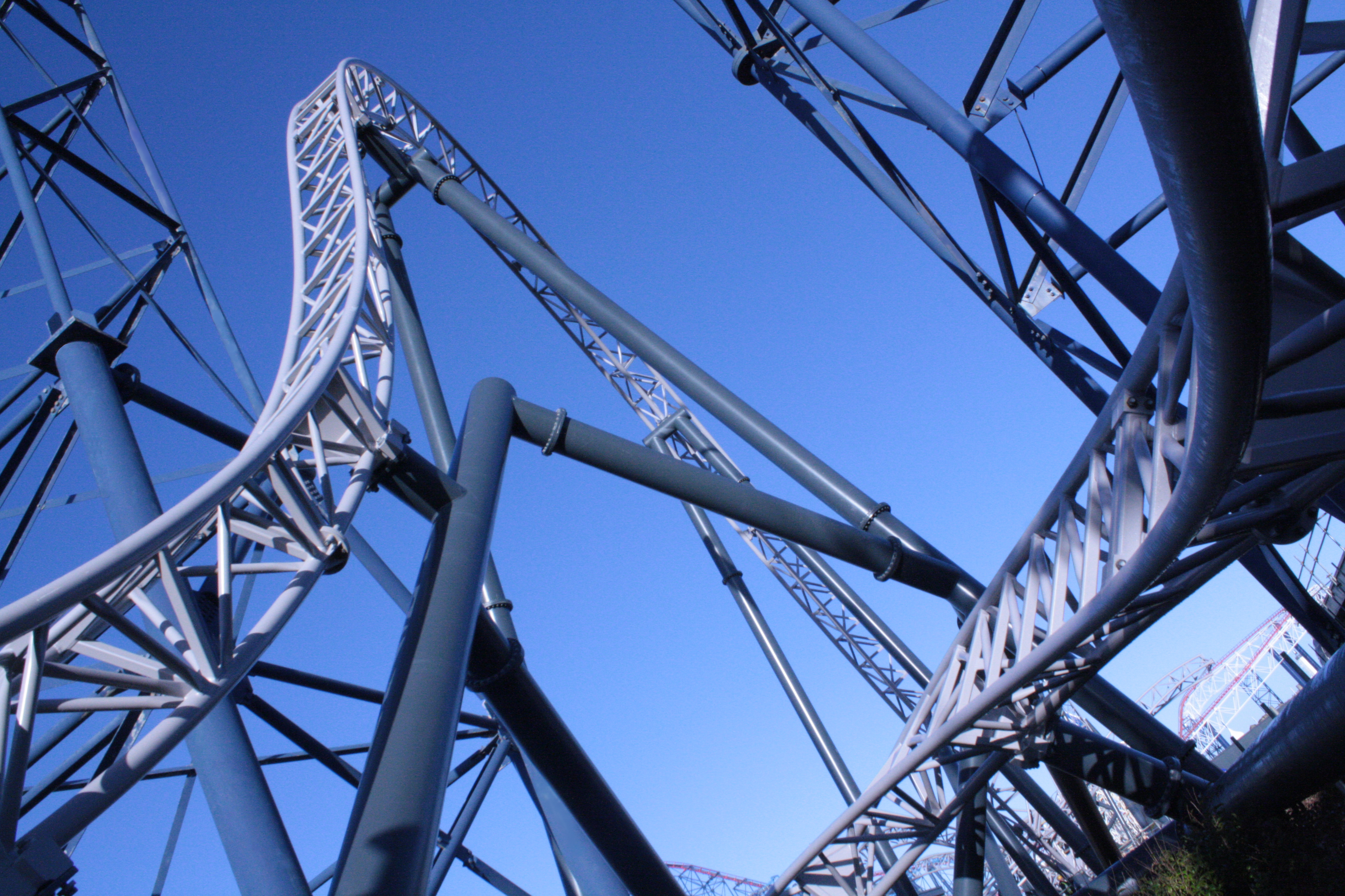 ICON soars through the lift hill of the famous Big One rollercoaster
