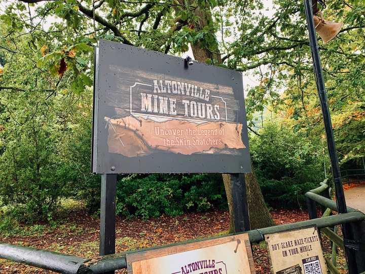 altonville mine tours entrance sign