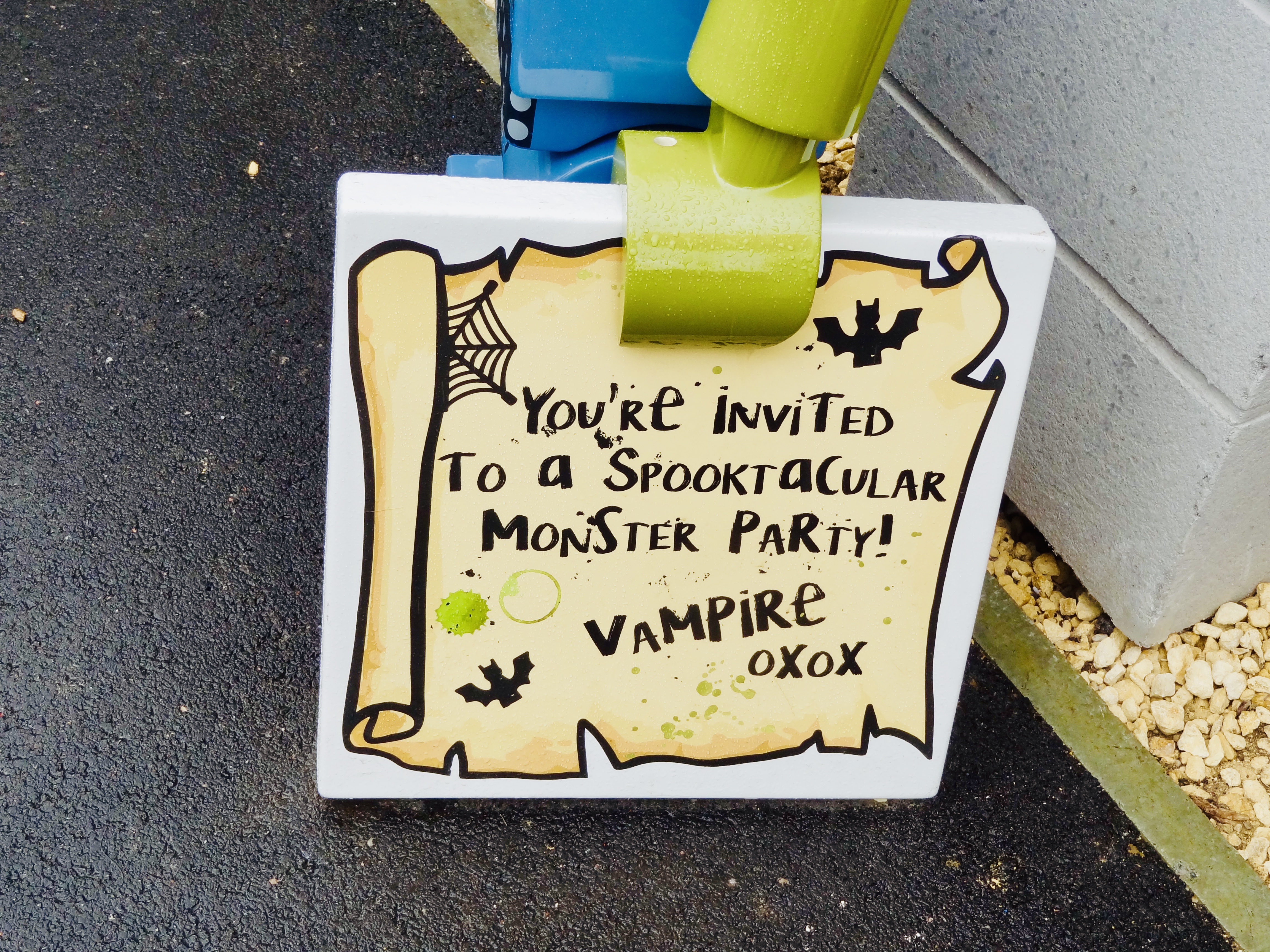 you're invited to a spooktacular monster party vampire xoxo letter