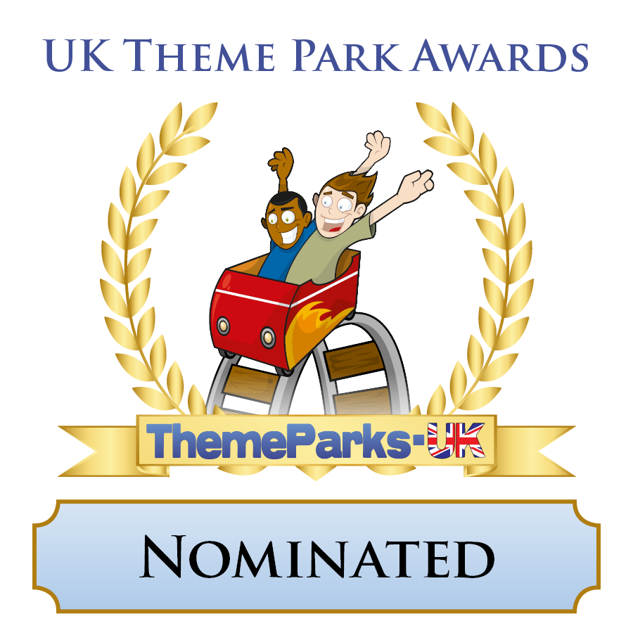 uk theme park awards nominated badge